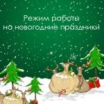 Режим работы на новогодние праздники 2020 г.