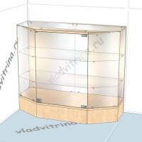 Прилавок шестигранный пристенный, на подиуме, 1000х400х850