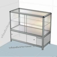 Прилавок-витрина на основе алюминиевого профиля, 800х440х850