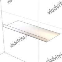 Полка стеклянная 5 мм с бортиком