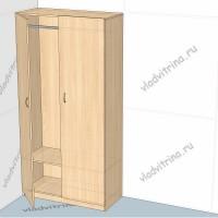 Шкаф для одежды, 1000х450х2000