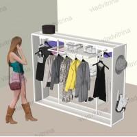 Стойка (гондола) островная для одежды и аксессуаров