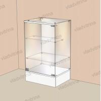 Прилавок стеклянный на подиуме, 500х400х850