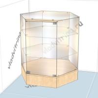 Прилавок шестигранный на подиуме, 800х700х850