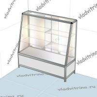 Прилавок с наклонным фасадом на основе алюминиевого профиля, 1200х440х1200