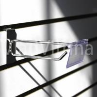 Крючок в эконом-панель  с ценникодержателем (Ø 5 мм) 100 мм
