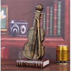 """Фигура для декора """"Виолончель на книгах"""""""