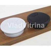 Заглушка для стола под кабель (белая) d = 50 mm