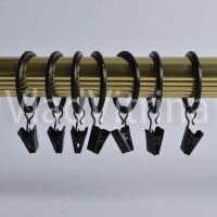 Кольца на зажимах для шторы в примерочную